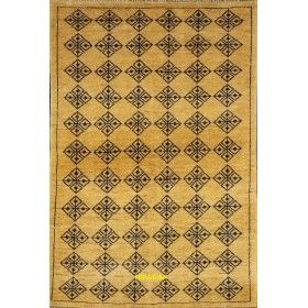 Gabbeh Soltanabad 152x102 light color beige blue mollaian rugs