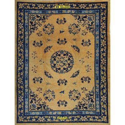 Beijing - Pechino Cina 355x280-Mollaian-Tappeti-Antichi-Tappeti Antichi-Beijing - Pechino-Old-Carpet-2725-4.950,00€-saldi--50%