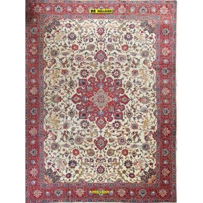 Antique Tabriz Khoi Persia 386x290-Mollaian-Antique-Rugs-Antique carpets-Tabriz-old-carpet-3997-2.950,00€-Sale--50%