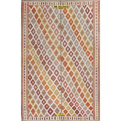 Kilim Suzani Anatolia 231x150-Mollaian-Antique-Rugs-Antique carpets-Sumak - Sumagh - Sumaq-old-carpet-4655-1.500,00€-Sale--50%
