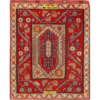 Ancient Anatolian Yuntdag 135x107-Mollaian-Antique-Rugs-Antique carpets-Yuntdag-old-carpet-6560-1.500,00€-Sale--50%