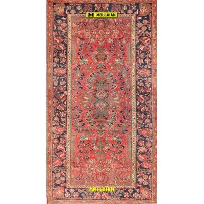 Antique Malayer Persia 202x108-Mollaian-Antique-Rugs-Antique carpets-Malayer-old-carpet-0200-1.325,00€-Sale--50%