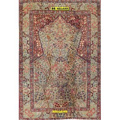 Antique persian Kerman 200x135-Mollaian-Antique-Rugs-Antique carpets-Kerman - Kirman-old-carpet-0785-1.650,00€-Sale--50%