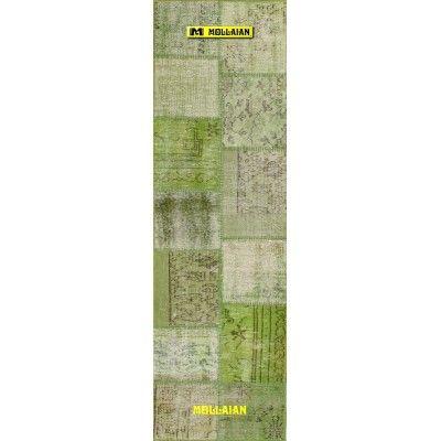 Green Patchwork Vintage 200x60-Mollaian-Patchwork-Vintage-Rugs-Patchwork Vintage carpets-Patchwork Vintage-9957-185,00€-Sale...