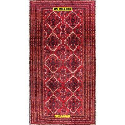 Bukara Mashad d'epoca 315x170-Mollaian-Tappeti-Geometrici-Tappeti Geometrici-Bukara Turkmen-11190-1.250,00€-Saldi--50%
