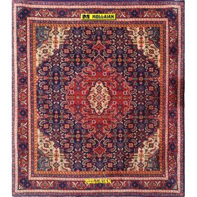 Bijar Persia 76x66-Mollaian-Tappeti-Scendiletto-Tappeti Scendiletto-Bijar - Bidjar-1031-325,00€-Saldi--50%