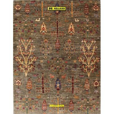 Ariana extra gold 176x136-Mollaian-Gabbeh-Contemporary-Rugs-Gabbeh and Modern Carpets-Ariana-12542-975,00€-Sale--50%