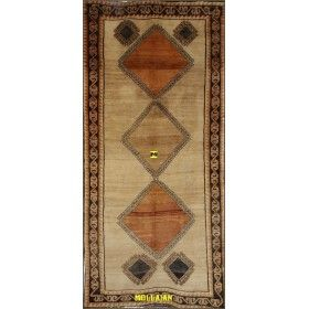 Old Persian Gabbeh Kashkuli 265x135 light color mollaian rugs