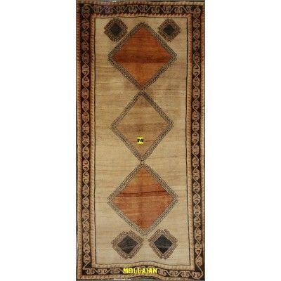 Old Persian Gabbeh Kashkuli 265x135 light color mollaian rugs