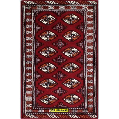 Bukara Turkmen 155x100-Mollaian-Geomtric-Rugs-Geometric design Carpets-Bukara Turkmen-13435-300,00€-Sale--50%e