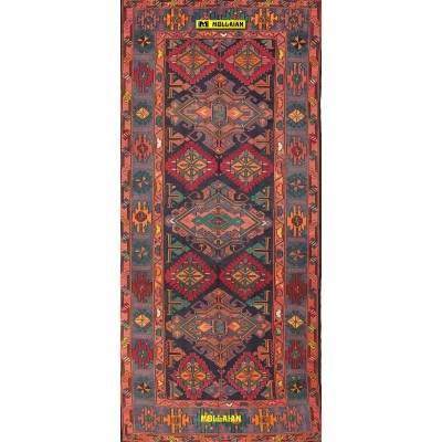Antique Caucasian Sumak 340x154-Mollaian-Geomtric-Rugs-Geometric design Carpets-Sumak - Sumagh - Sumaq-2753-1.800,00€-Sale--...