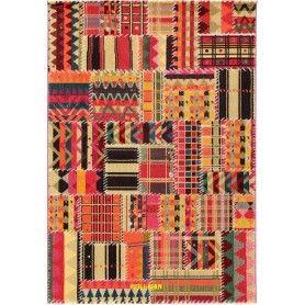 Tangeri Multi modern patchwork design 190x133