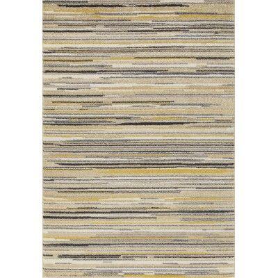 soave stripe cream yellow carpet