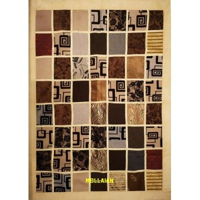 Tapestry Table cover Patchwork Beige Light color 200x150