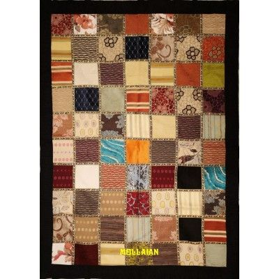 Tapestry Table cover Patchwork Black
