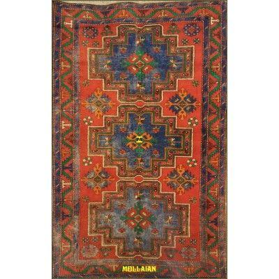 Derbent antico Azerbaijan 225x140-Mollaian-Tappeti-Antichi-Tappeti Antichi-Derbent-Old-Carpet-0278-2.400,00€-saldi--50%