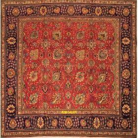 Tabriz d'epoca 30R Persia 305x300 quadrato mollaian tappeti