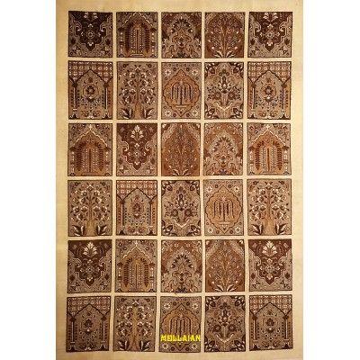 Tabriz d'epoca 30R Persia 326x224 colori naturali Mollaian tappeti