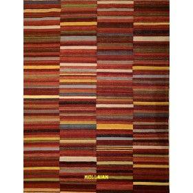Kilim kaudani moderno patctwork multicolore 235x178 mollaian rugs