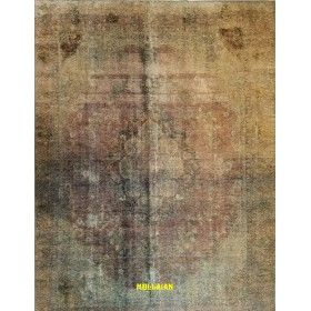 Tabriz Vintage Persia 352x274  grigio azzurro verde acqua  mollaian tappeti
