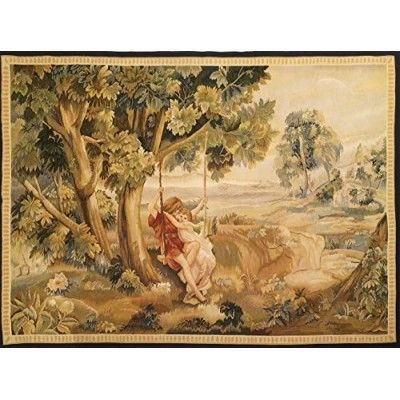 Aubusson tapestry 170x124-Mollaian-rugs-Aubusson and Tapestries-Arazzo Aubusson-geometrico-1097-775,00€-Sale--50%
