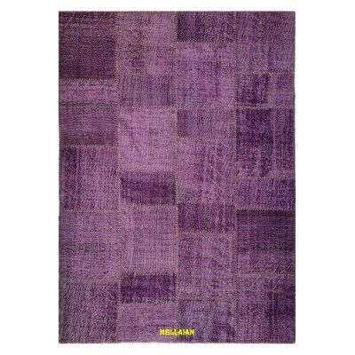 Patchwork Vintage glicine  235x174 Mollaian rugs