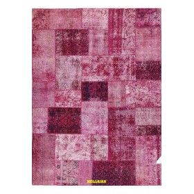 Patchwork Vintage fucsia Persia 215x154 Mollaian rugs