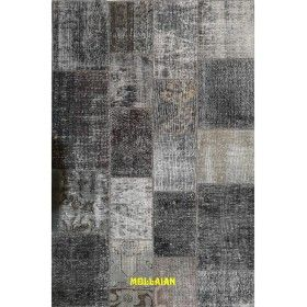 Patchwork Vintage 203x135 grigio e antracite  mollaian rugs