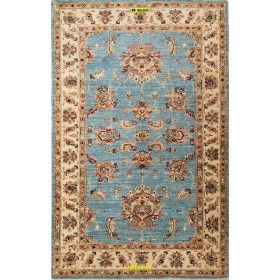 Sultanabad light blue carpet for sitting room or bedroom 168x107 Mollaian rugs