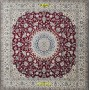 Nain square 9 line extra fine Persia Bordeaux 254 x 250 Mollaian Rugs