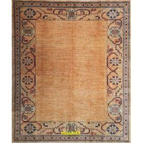 Original modern carpet in light caramel color Zagross Talish 221 x 190 Mollaian rugs