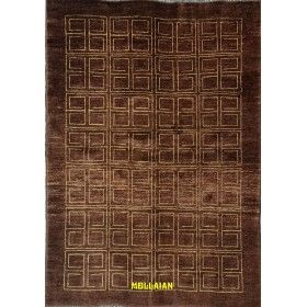 Soltanabad or Sultanabad Deco carpet 170x120 anthracite brown Mollaian rugs