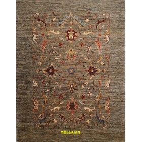 Ariana Gold Extra fine carpet 193 x 148 light green Mollaian rug