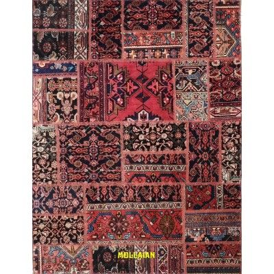 Patchwork Vintage natural persia carpet 212x162 Mollaian rugs