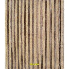 contemporary light rug Gabbeh gandom Sanghesar persia146x122 Mollaian rugs