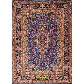 Persian original Blue carpet Kerman  200x145 Mollaian rugs