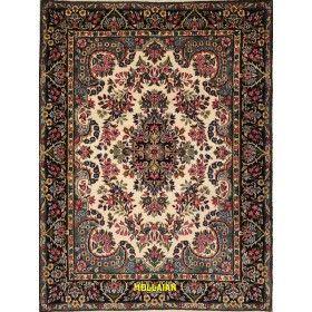 Tappeto Kerman Persia colore chiaro beige e verde 194x152 mollaian rugs