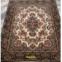 Kerman Persian carpet light beige and green color 194x152 Mollaian rugs