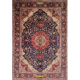 Tappeto Tabriz d'epoca 30R Persia azzurro e blu 292x200 Mollaian rugs