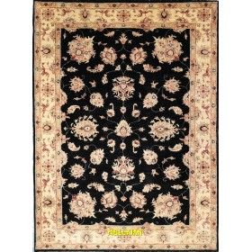 Soltanabad black beige carpet 204 x 147 Mollaian rugs