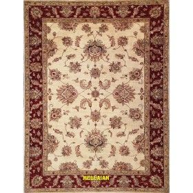 Modern carpet Soltanabad white orange 203x153 Mollaian rugs
