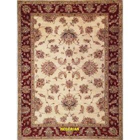 Tappeto moderno chiaro Soltanabad bianco arancione  203x153 Mollaian rugs