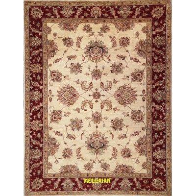 Modern carpet Soltanabad white orange 203x153 Mollaian rugs