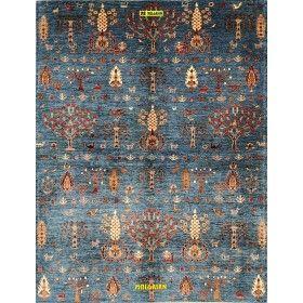 tappeto-moderno-azzurro-ariana-heriz-design-240x183-Mollaian-rugs
