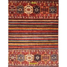 modern-multicolor-geometric-khorgin-uzbeck-carpet-210x152-Mollaian-rugs