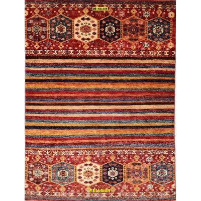 Khorgin Uzbeck 210x152-Mollaian-Geomtric-Rugs-Geometric design Carpets-Khorgin Gabbeh-13001-1.200,00€-Sale--50%e