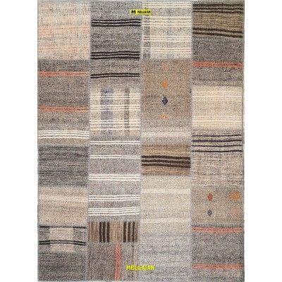 Patchwork Kilim 235x170 grey-Mollaian-Patchwork-Vintage-Rugs-Patchwork Vintage carpets-Patchwork kilim-12910-425,00€-Sale--50%