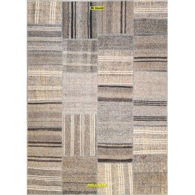 Patchwork Kilim 235 x 170-Mollaian-Patchwork-Vintage-Rugs-Patchwork Vintage carpets-Patchwork kilim-12911-425,00€-Sale--50%