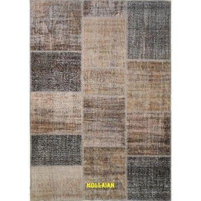 Patchwork Vintage 200x140 beige-Mollaian-Patchwork-Vintage-Rugs-Patchwork Vintage carpets-Patchwork Vintage-12915B-450,00€-S...