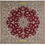 square  Nain Habibian 6 line extra fine Persia 106 x 100 Mollaian Rugs